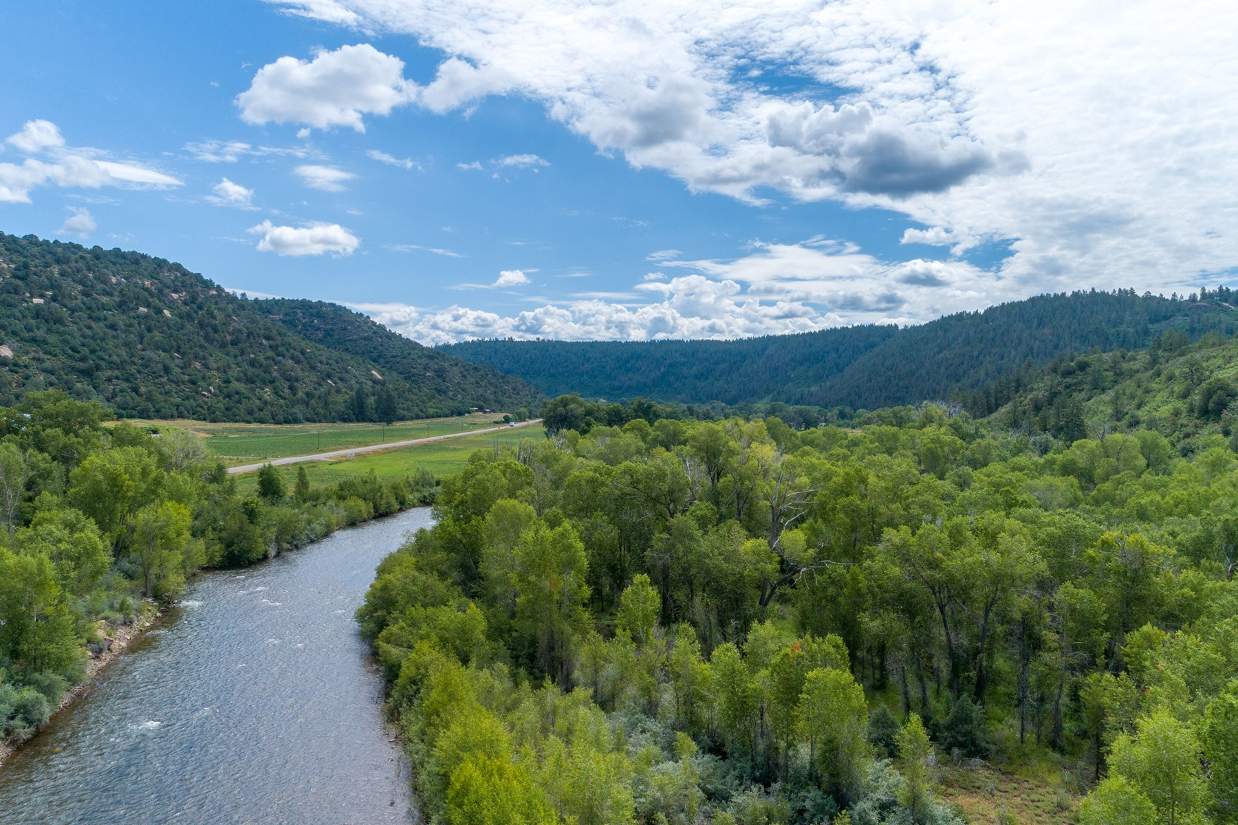 17 acres of private river frontage for sale in Dolores, CO