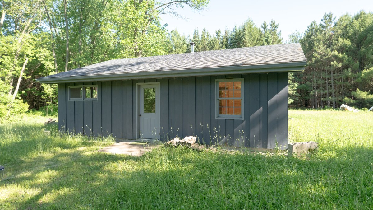 Hunting Land with Cabin and Pole Shed in Wood County WI