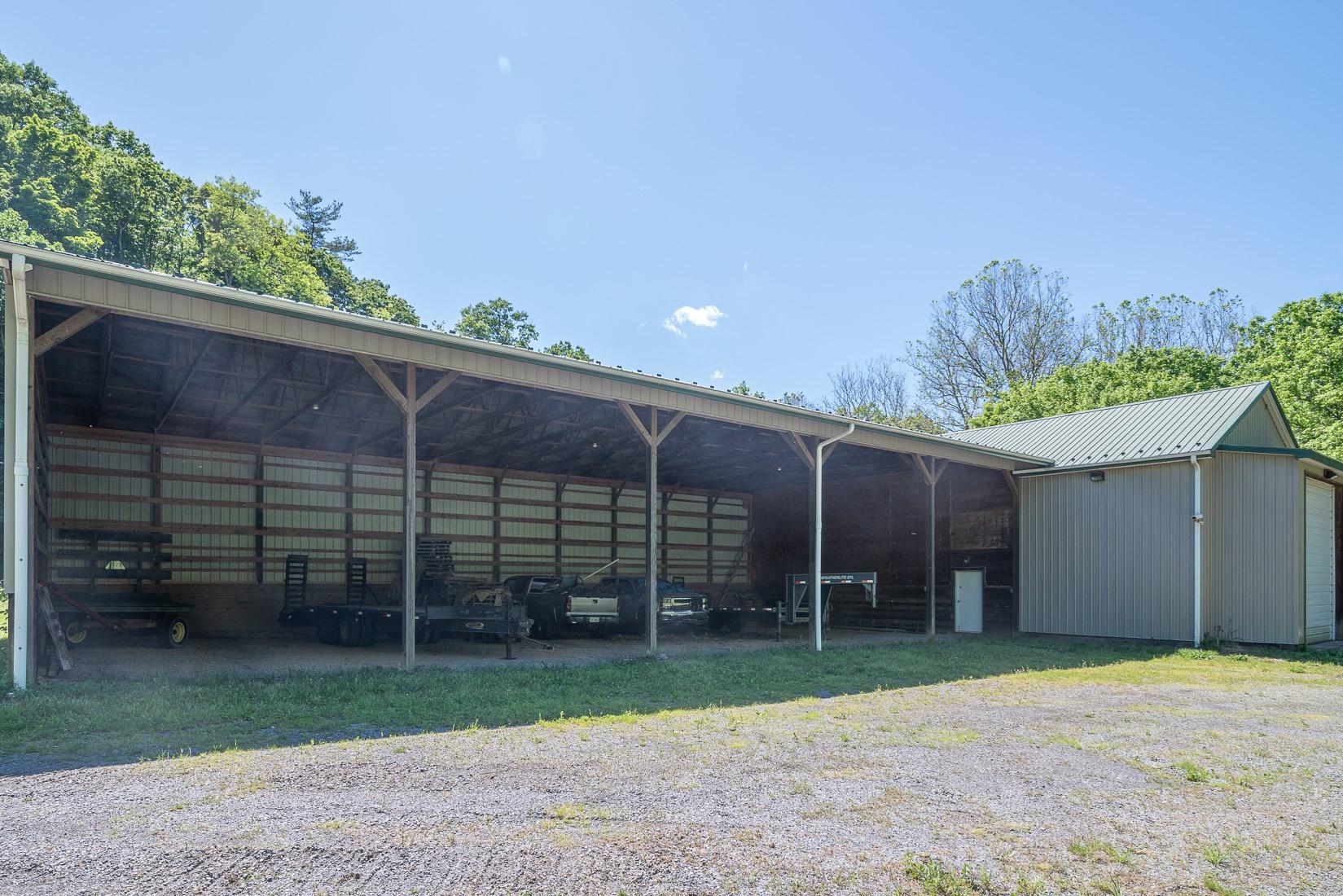 Storage area of RV barn