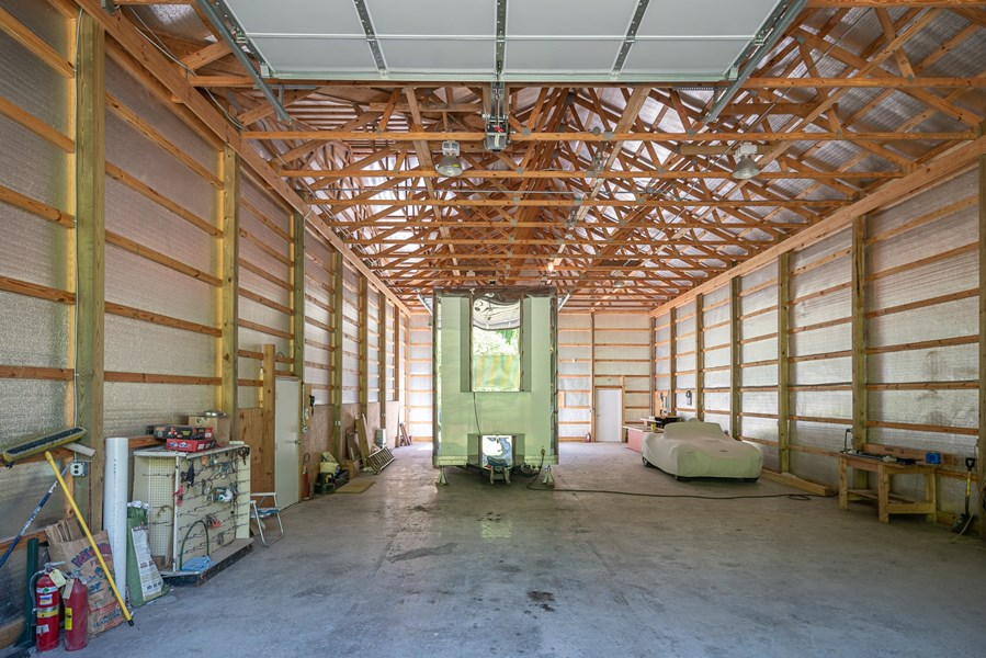 Interior of the RV barn