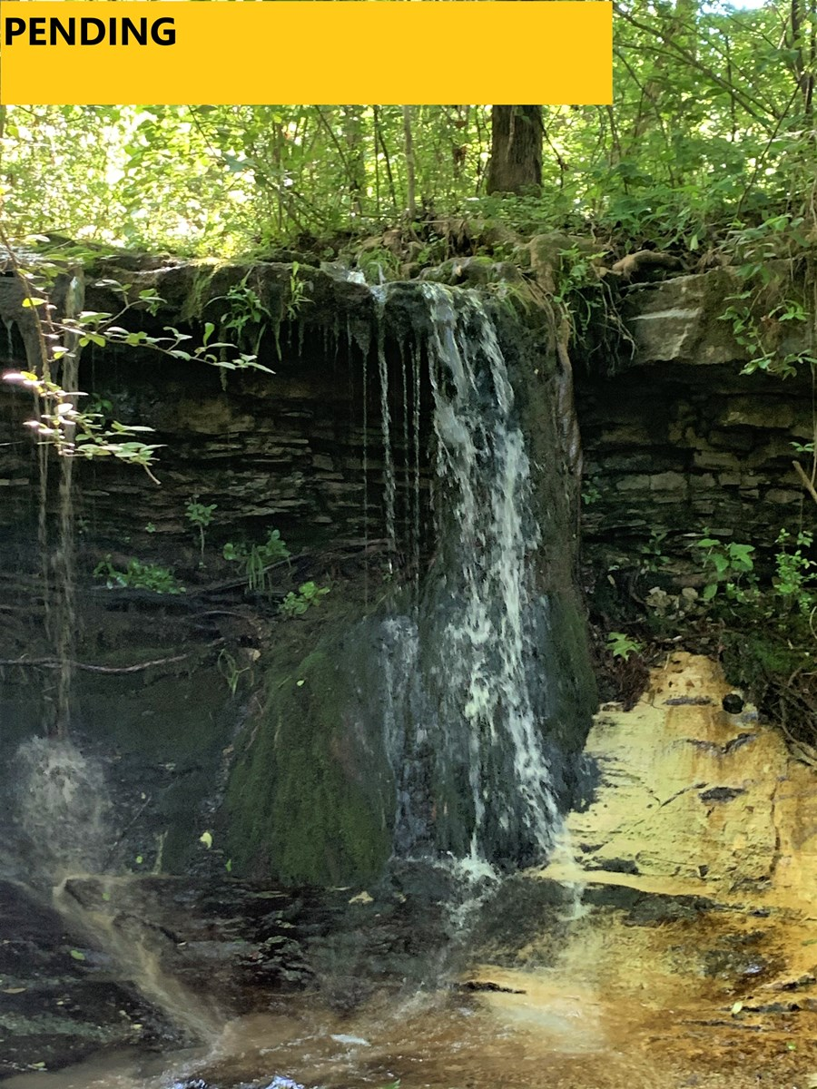 POOR CONDITION HOUSE---BEAUTIFUL SPRING WATERFALL