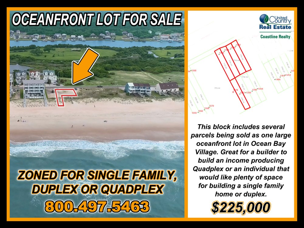 Land on North Topsail Beach for Income Producing Property
