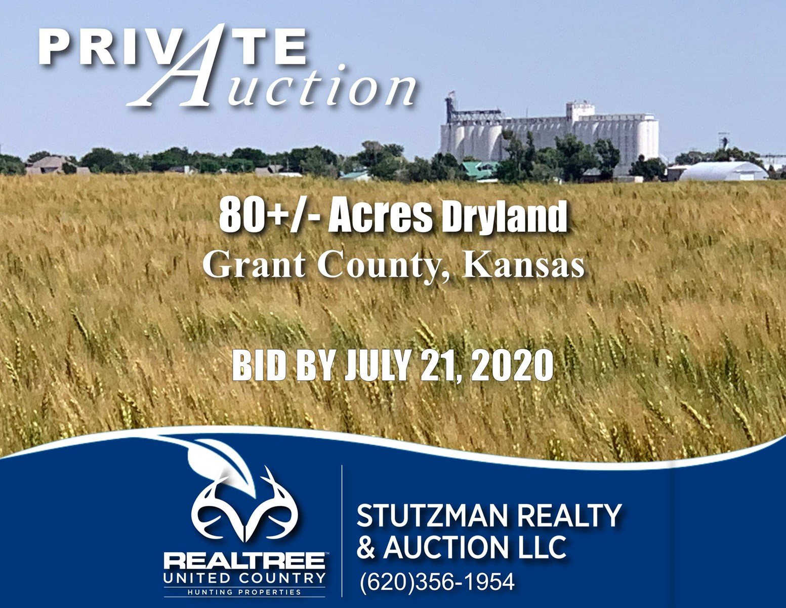ULYSSES, KANSAS ~ PRIVATE AUCTION ~ 80 +/- ACRE FARMLAND
