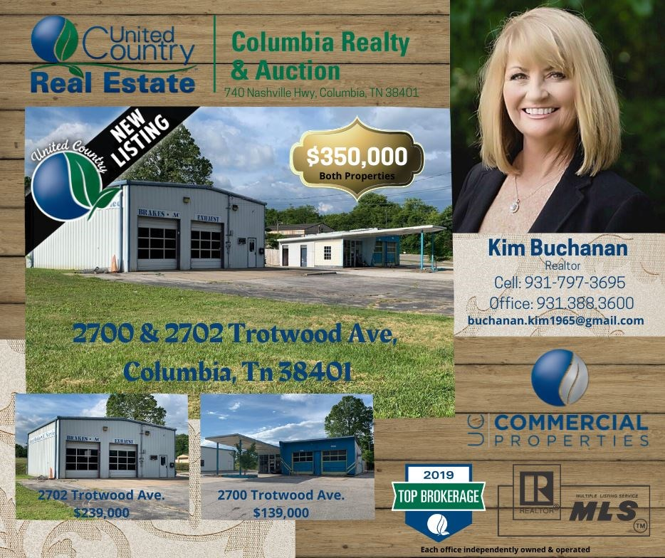 2 Commercial Buildings for Sale in Columbia, Tennessee