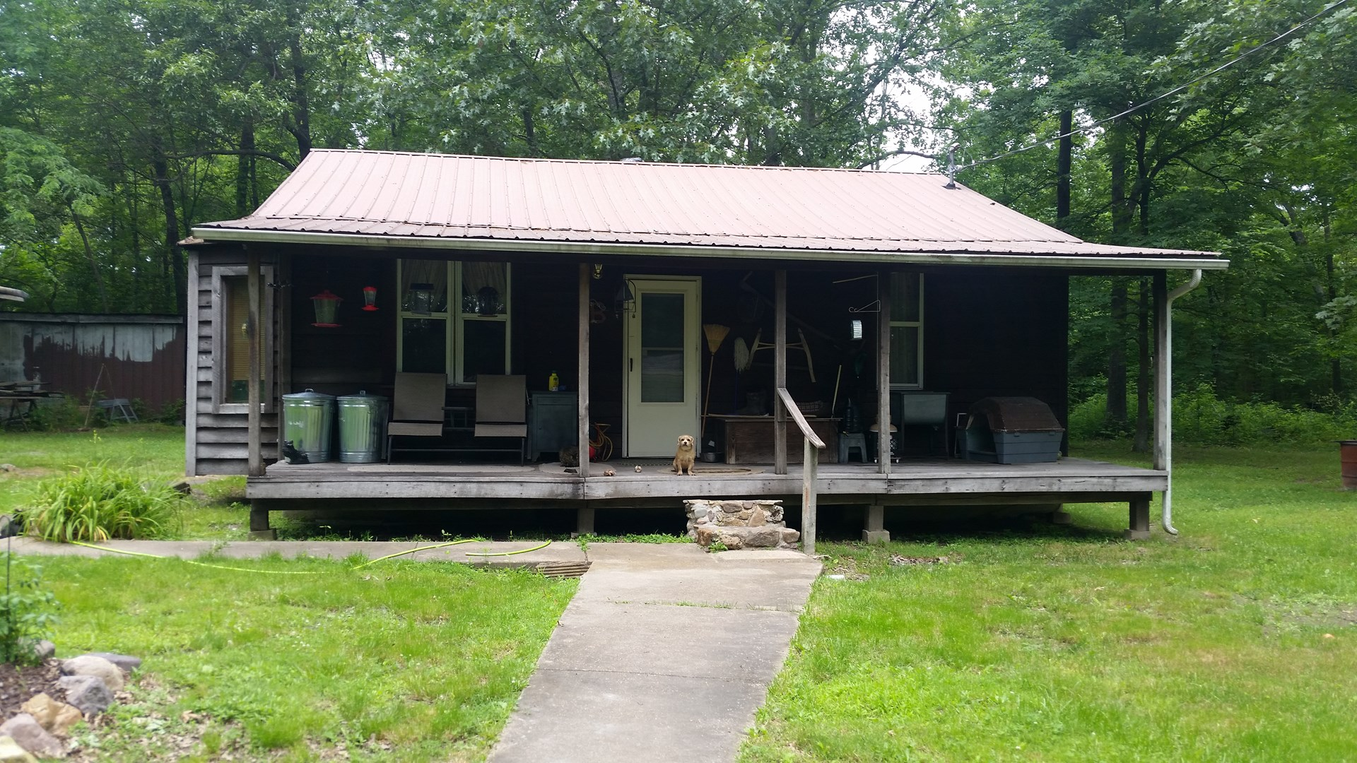 For Sale: 2 bed 1 bath rustic cabin home on 5 wooded acres