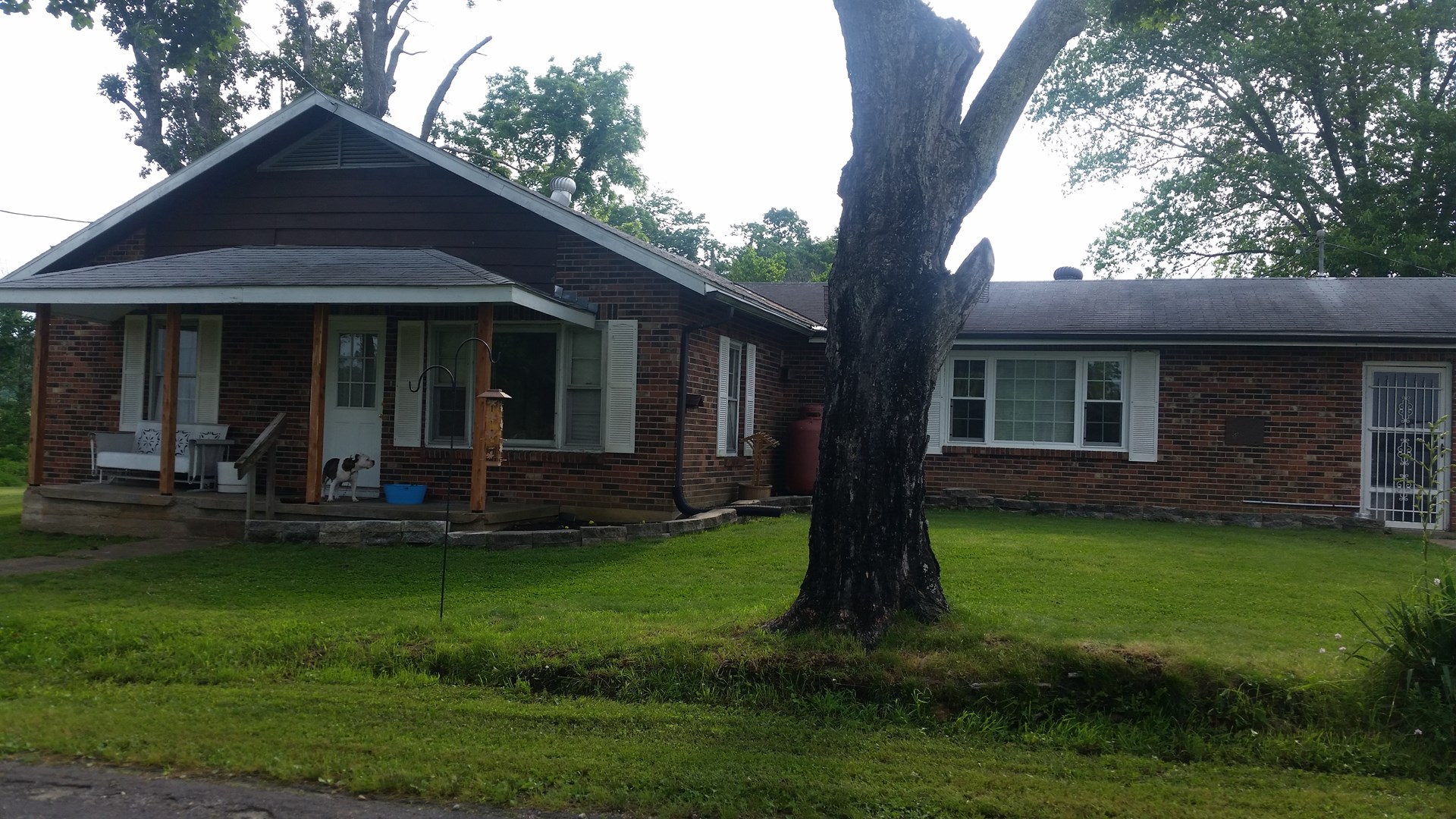For Sale:  2Bedroom 1 1/2 bath brick  home on 1.93 acres