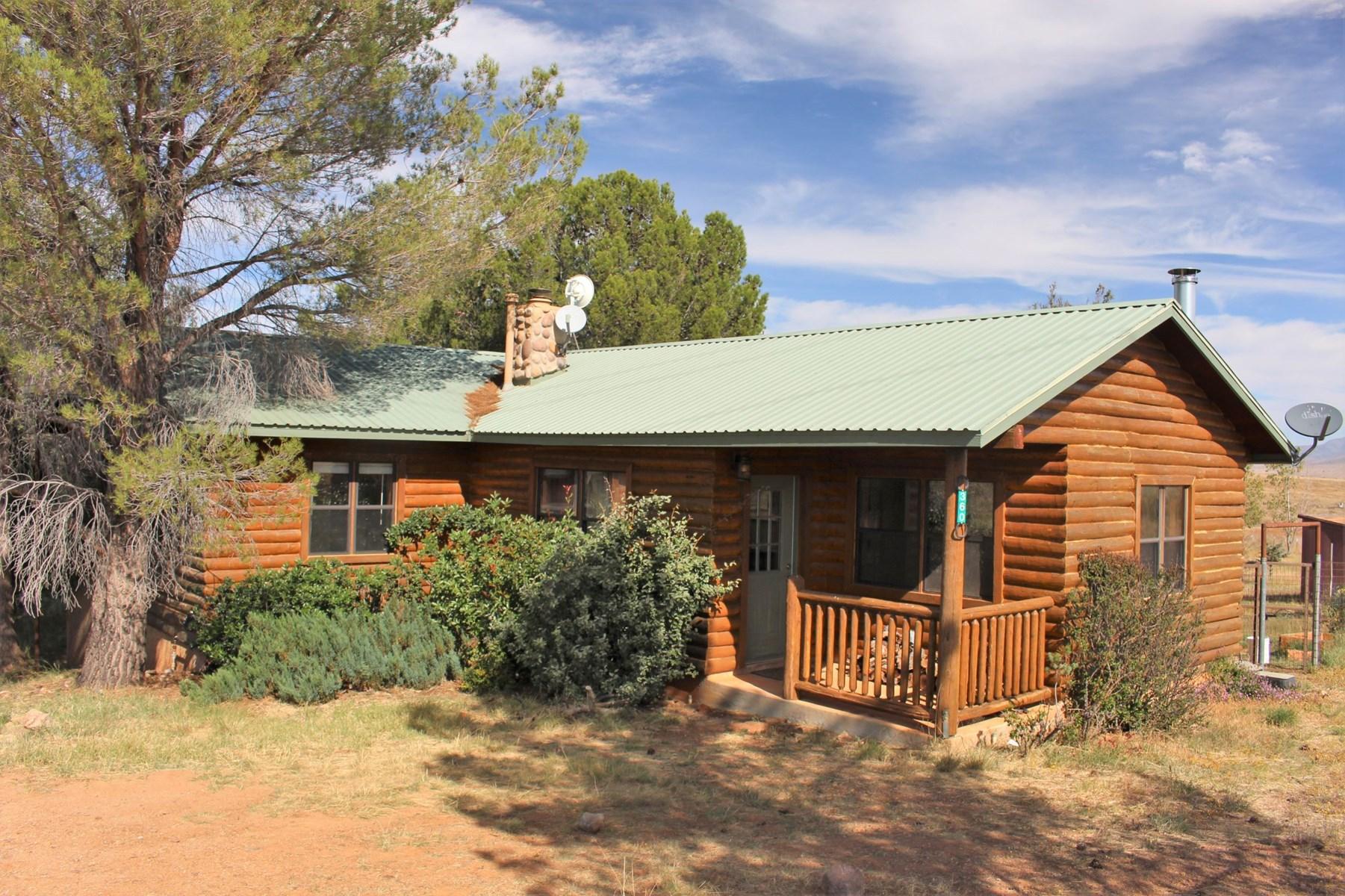 Log Home on 4+ Acres in Desirable Elgin-Sonoita, AZ Area