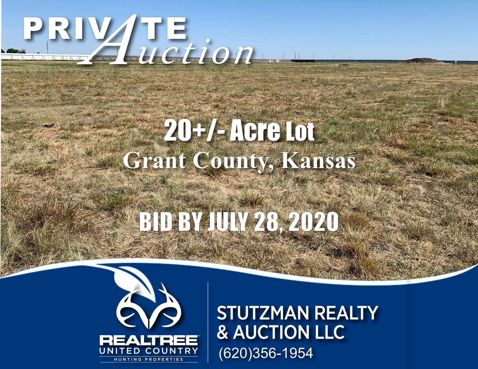 GRANT COUNTY KS ~ 20 ACRES with SHOP ~ PRIVATE AUCTION
