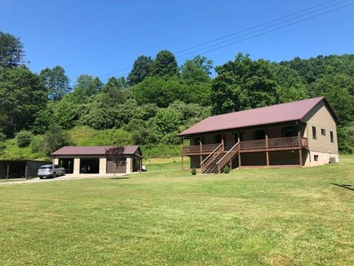 104 Acre WV Farm with Main Home, Older Farmhouse & Cottage.