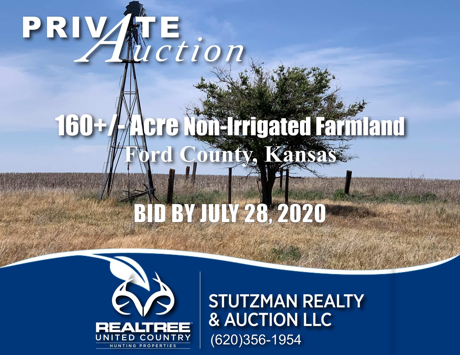FORD COUNTY, KANSAS ~ 160+/- ACRE FARMLAND ~ PRIVATE AUCTION