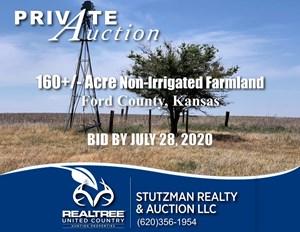 FORD COUNTY, KANSAS ~ 160+/- ACRE FARMLAND ~ PRIVATE AUCTION
