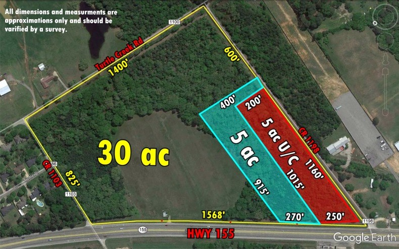 SMALL ACREAGE COMMERCIAL LAND HIGHWAY FRONTAGE FLINT TEXAS