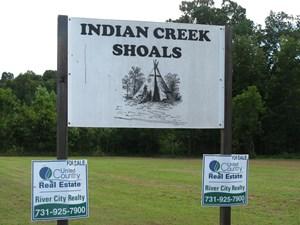 GREAT KAYAKING ON INDIAN CREEK IN SAVANNAH, TN, LOT FOR SALE