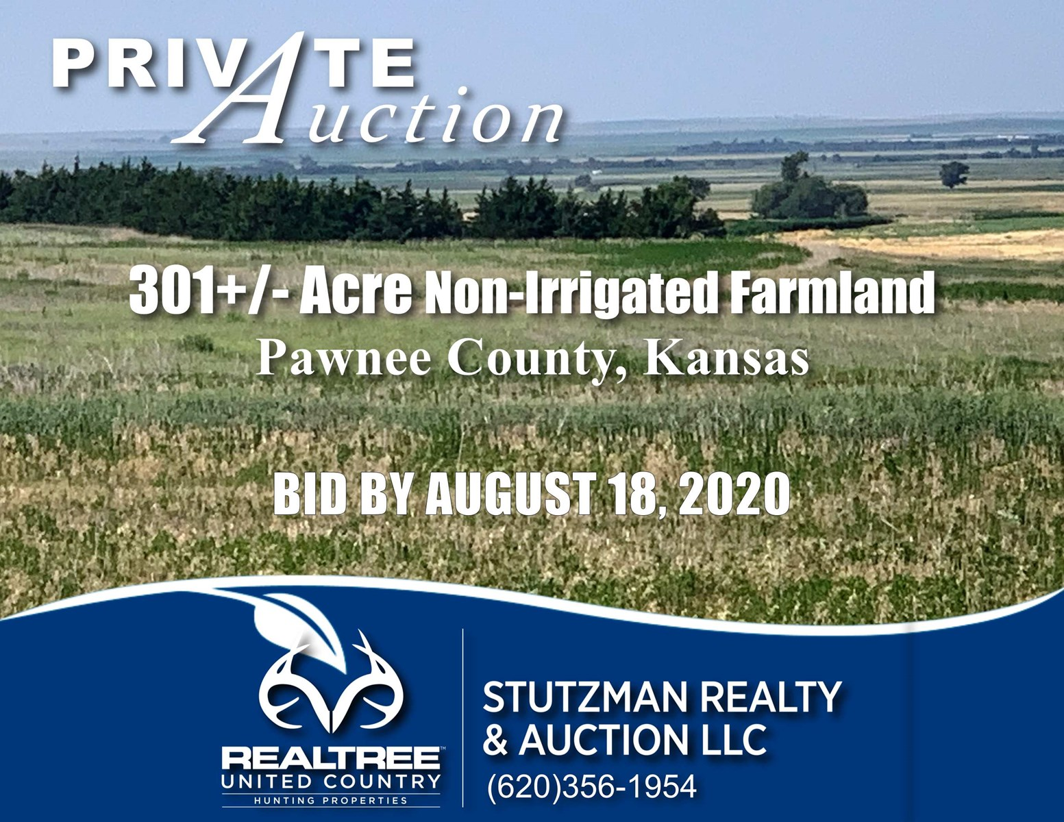 PAWNEE COUNTY, KS ~ 301+/- ACRE CROPLAND ~ PRIVATE AUCTION