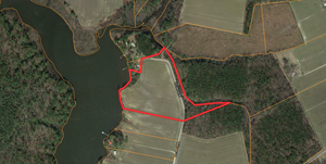WATERFRONT PROPERTY TRACT FOR SALE BEAUFORT CO., BATH NC
