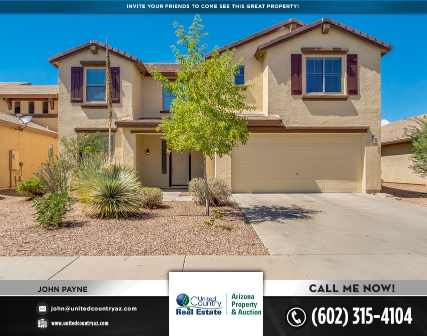 4 BEDROOM 3 BATHROOM TWO STORY HOME IN SAN TAN VALLEY, AZ
