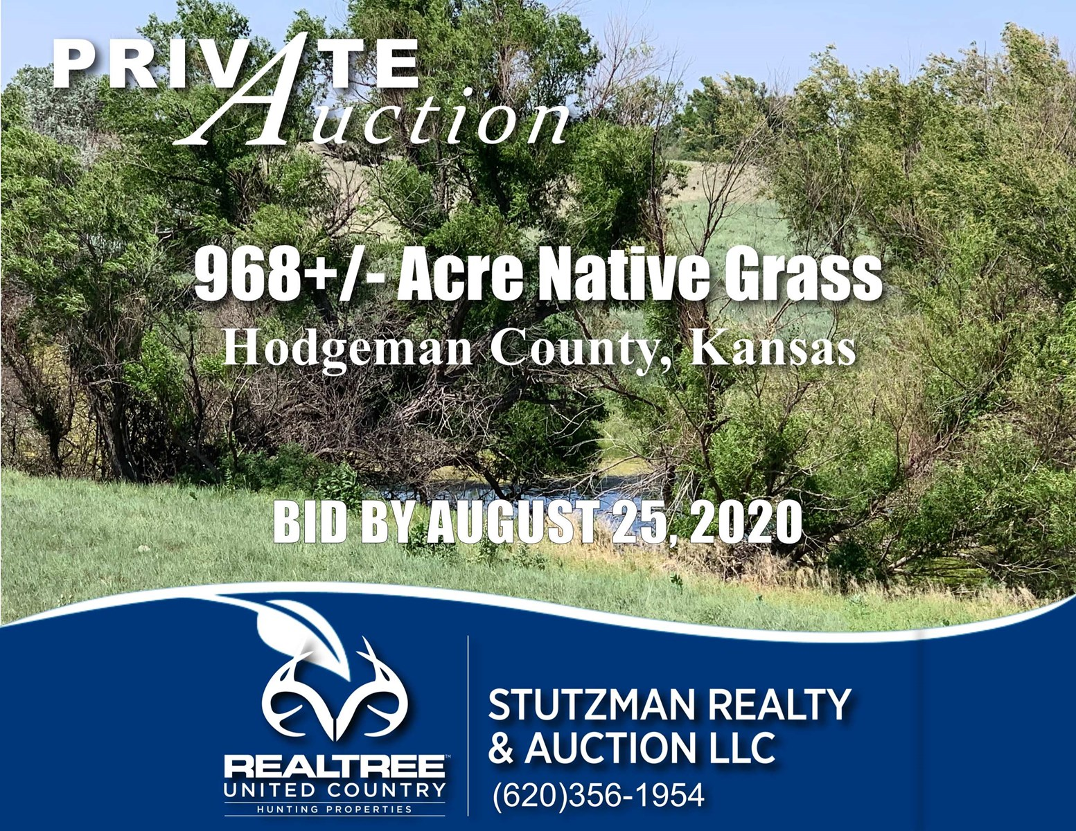HODGEMAN COUNTY, KS ~ 968+/- ACRE RANCH / HUNTING ~ AUCTION
