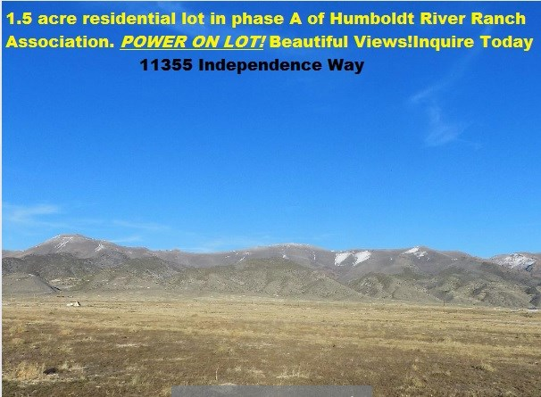 Humboldt River Ranch Residential Lot