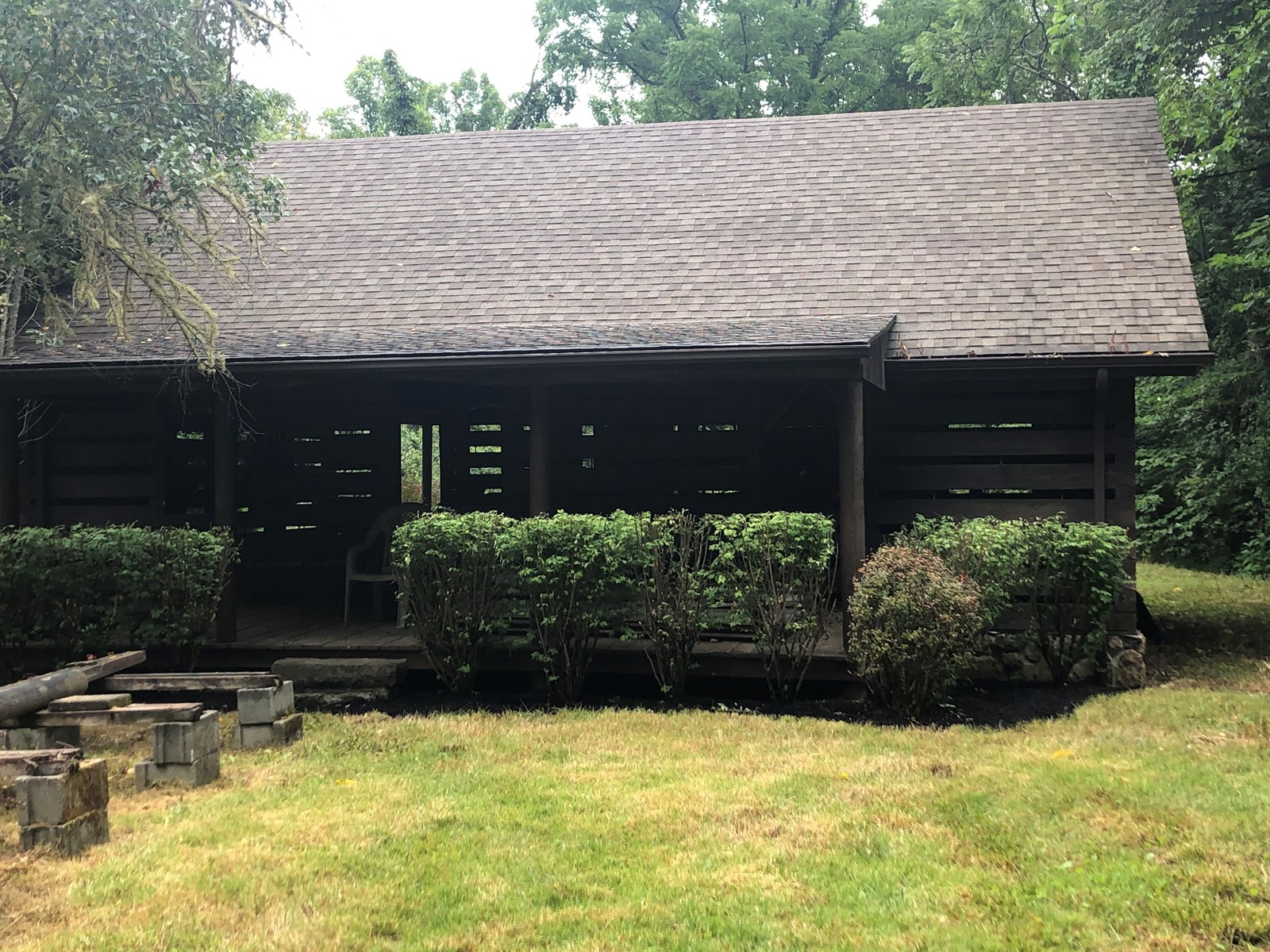 Rustic, Unfinished Mountain Cabin in East Tennessee For Sale