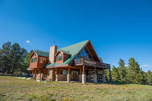 Legacy Ranch Log home Colorado Rocky Mountains