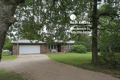 Country Home on 10 Acres Wooded Hideaway Meeker, Central, Ok