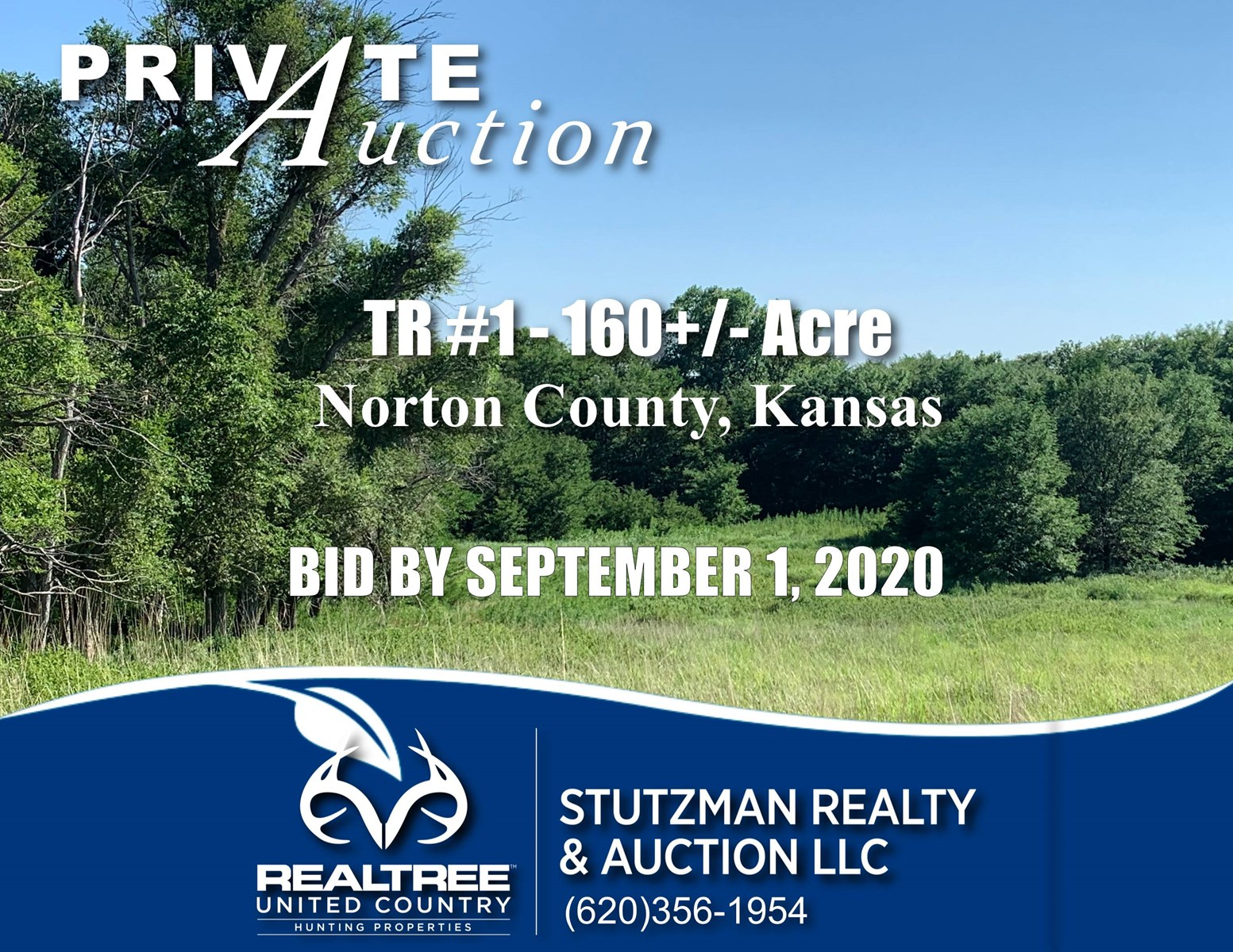 NORTON COUNTY, KS ~ 160 ACRE HUNTING & CRP ~ PRIVATE AUCTION
