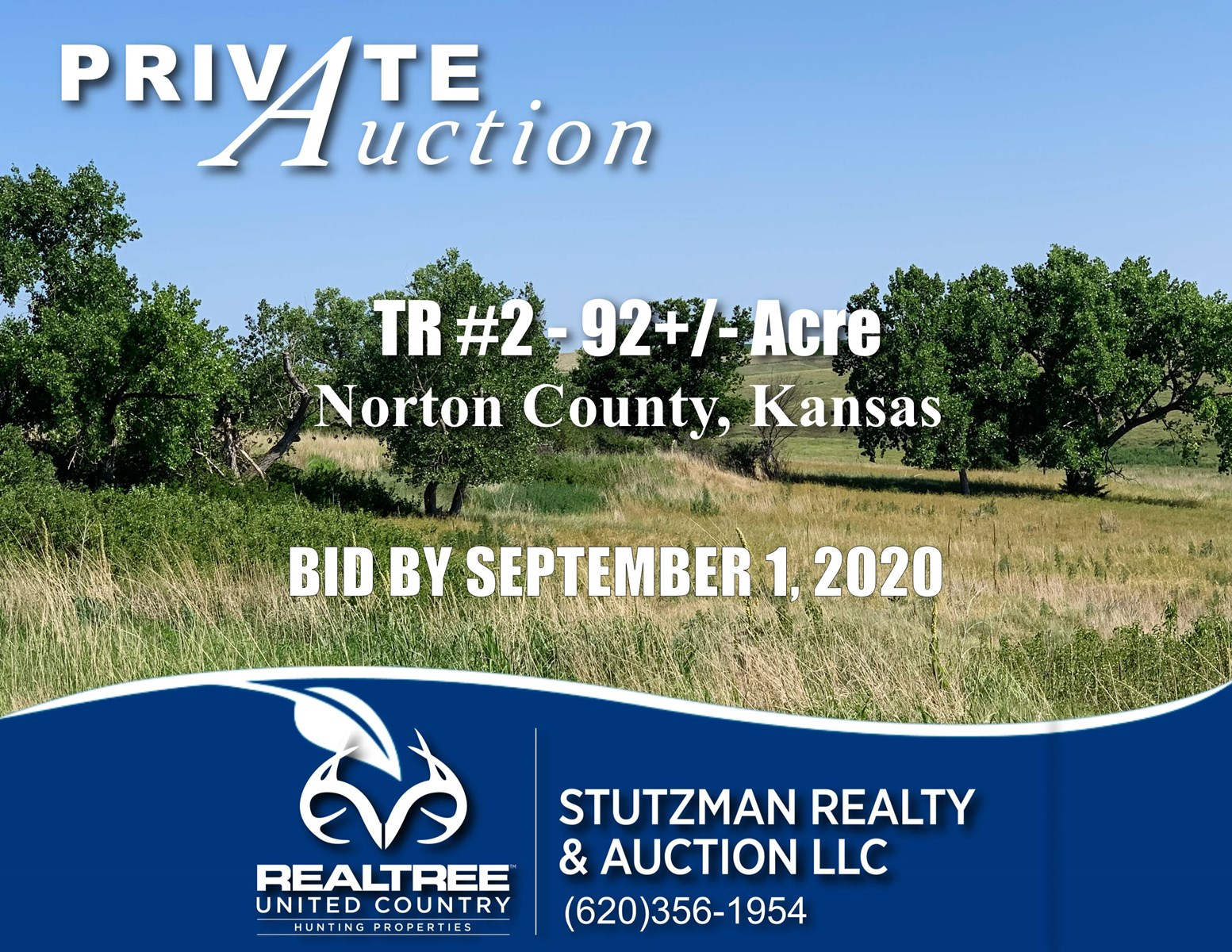 NORTON COUNTY, KS TR ~ 92+/- ACRE ~  PRIVATE AUCTION