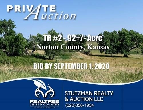 NORTON COUNTY, KS TR ~ 92+/- ACRE ~  PRIVATE AUCTION