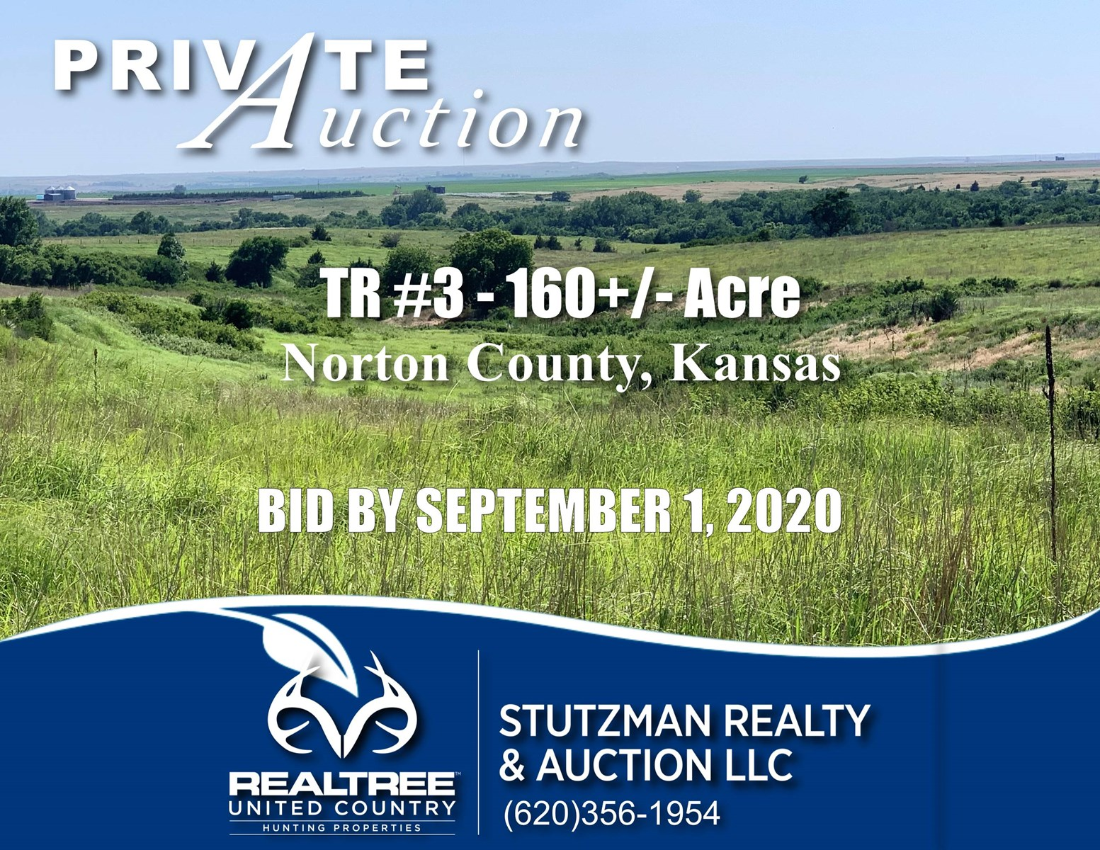 NORTON COUNTY, KANSAS ~ TR #3 160+/-ACRES ~ CRP & PASTURE