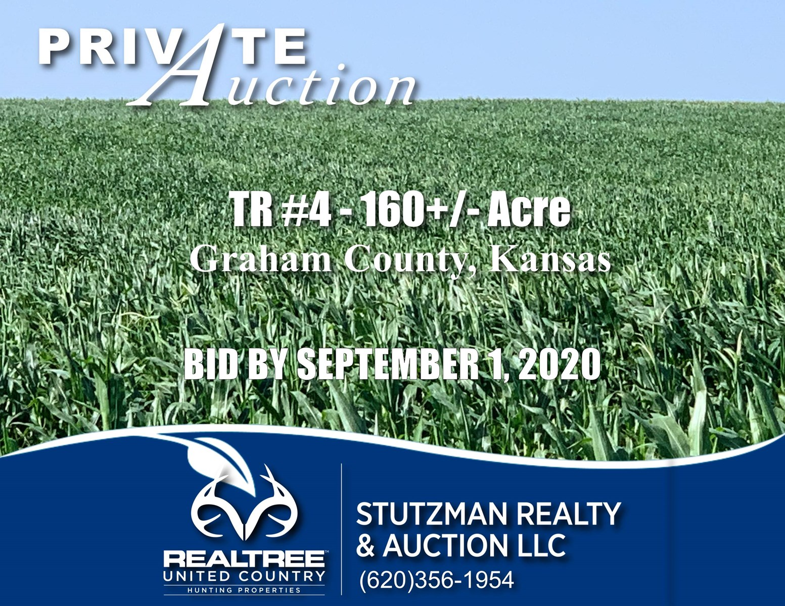 GRAHAM COUNTY, KANSAS ~ TR #4 - 160+/- ACRES CROPLAND