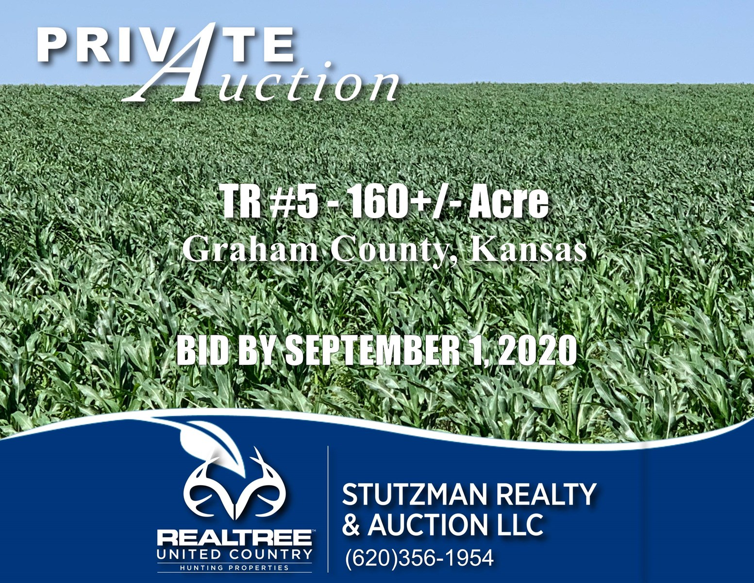 GRAHAM COUNTY, KS TR #5 - 160+/- ACRES ~ CROPLAND ~ AUCTION