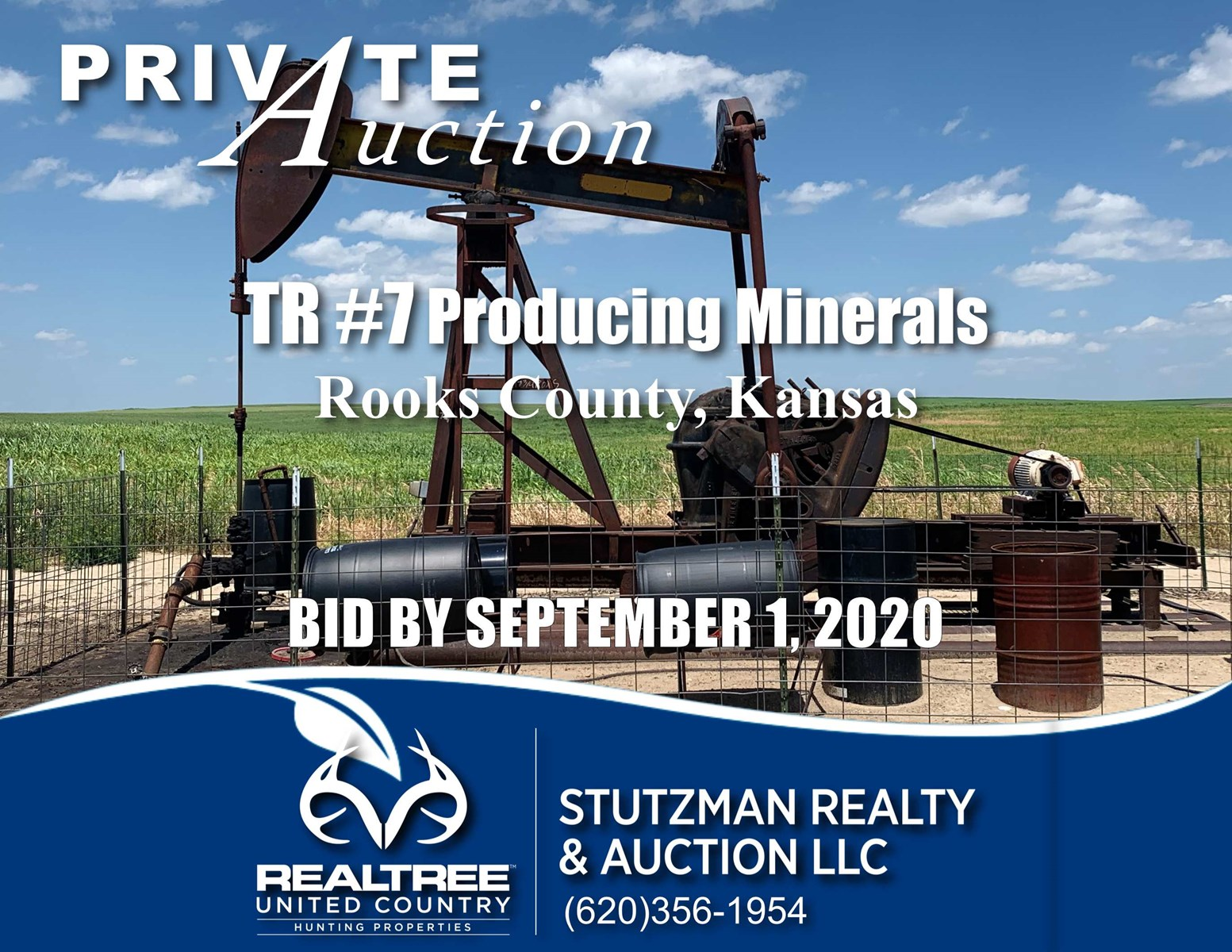 ROOKS COUNTY, KANSAS ~ PRODUCING MINERALS ~ PRIVATE AUCTION