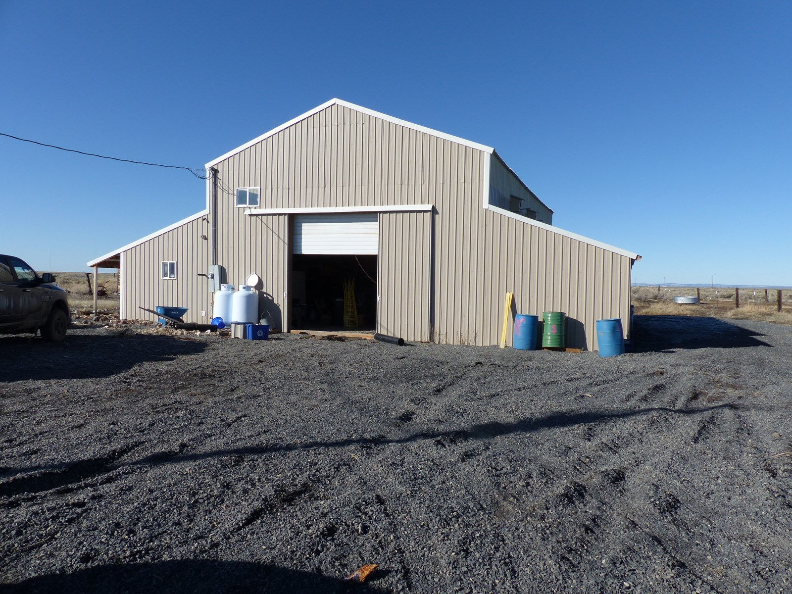 SHOP W/ LIVING QUARTERS ON 160 ACRES EAST OF BURNS