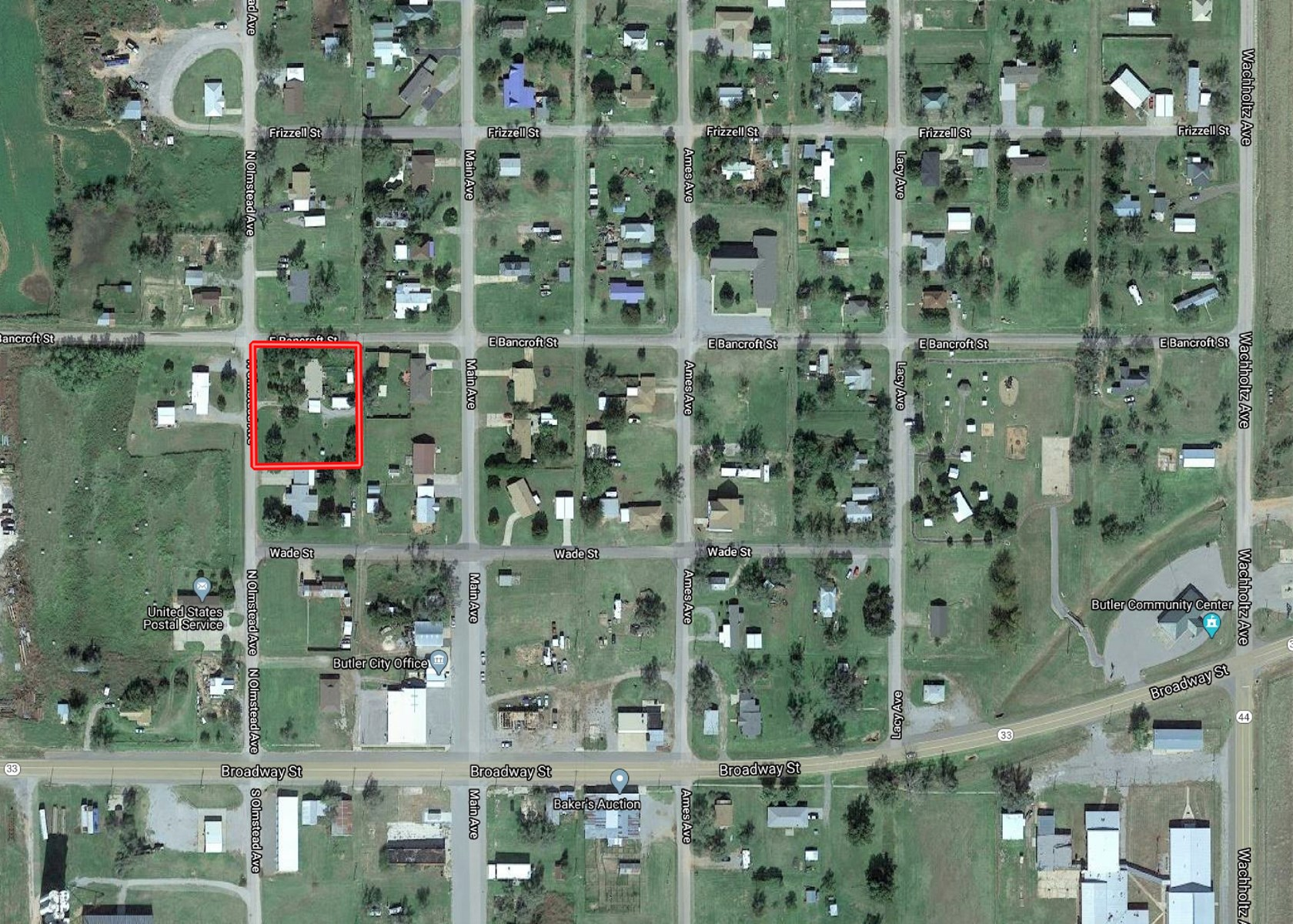 Butler, OK Home & 8 Lots to Auction, Custer County