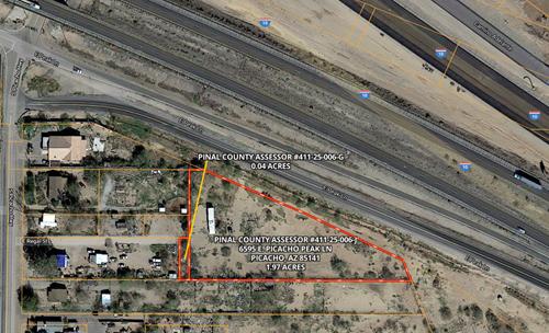 2-ACRES COMMERCIAL LAND ON I-10 ONLINE AUCTION, PICACHO, AZ