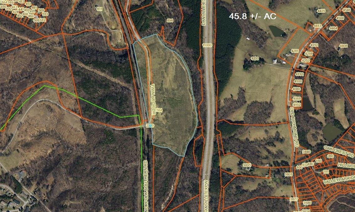 45 +/- Acres in Pittsylvania County, VA