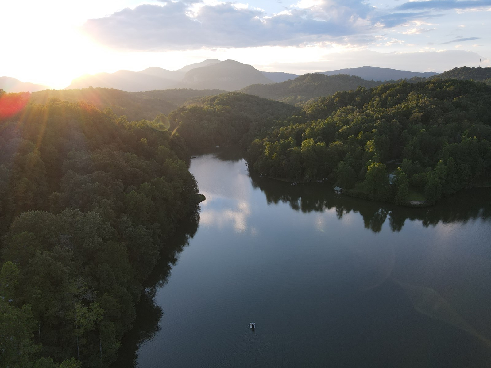 Lakefront Lot on Big Mirror Lake in Lake Lure NC