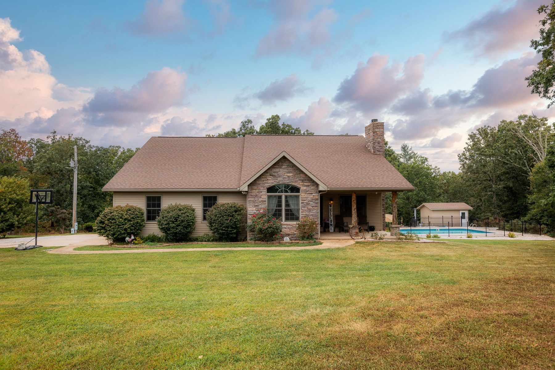 3 bedroom home on 66 acres with heated in ground pool