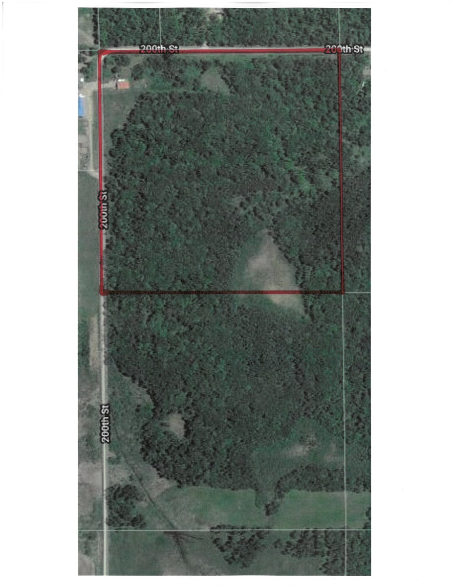 40 Wooded Acres with Pole Building for Sale in Milaca