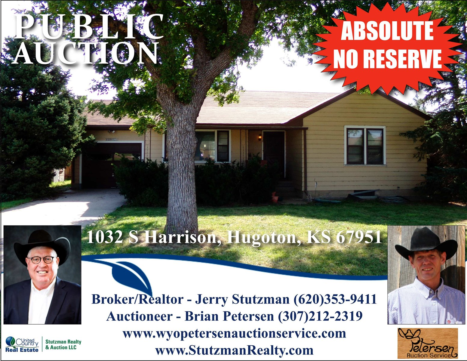 HUGOTON, KS HOME FOR AUCTION SATURDAY OCTOBER 3, 2020