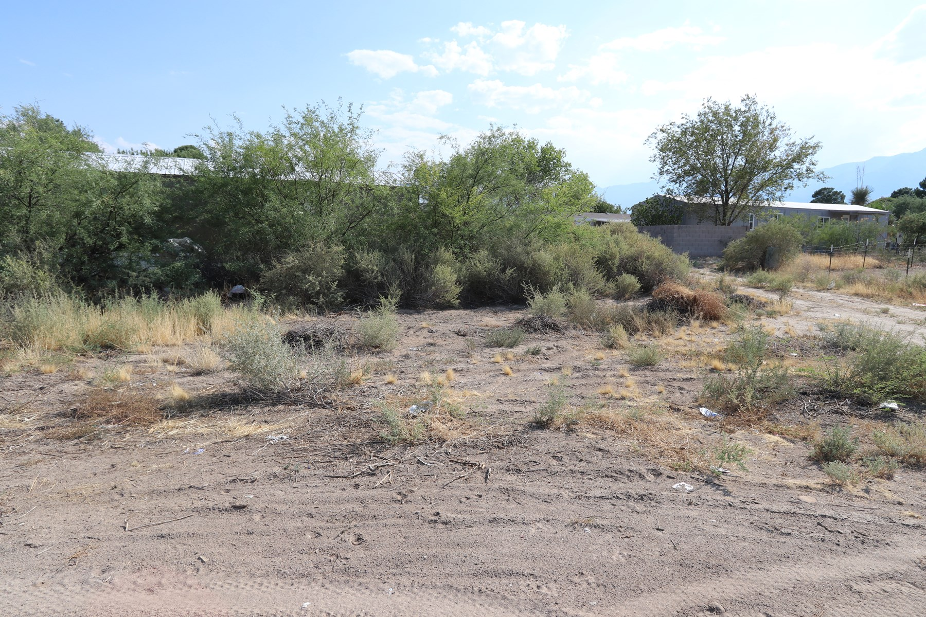 Mobile home lot just outside of Safford, AZ