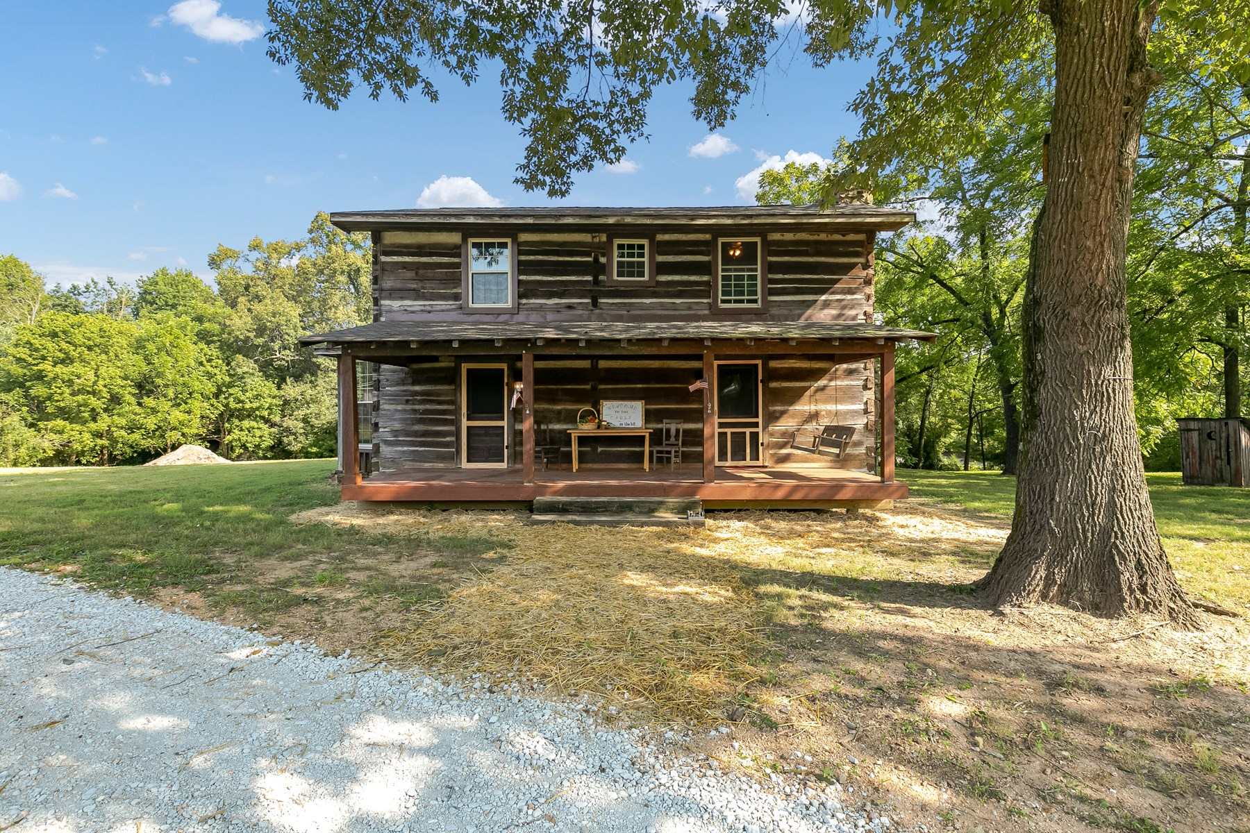 Hobby Farm For Sale in TN w/ Historic Log Cabin & Pole Barn