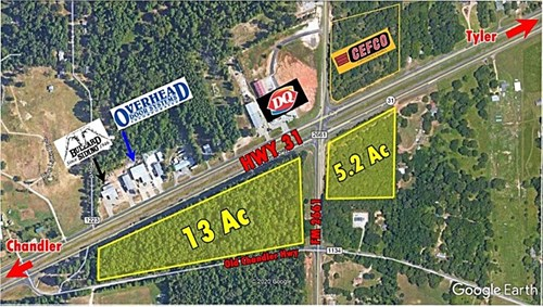 COMMERCIAL LAND HIGHWAY FRONTAGE 13 ACRES WILL SUBDIVIDE