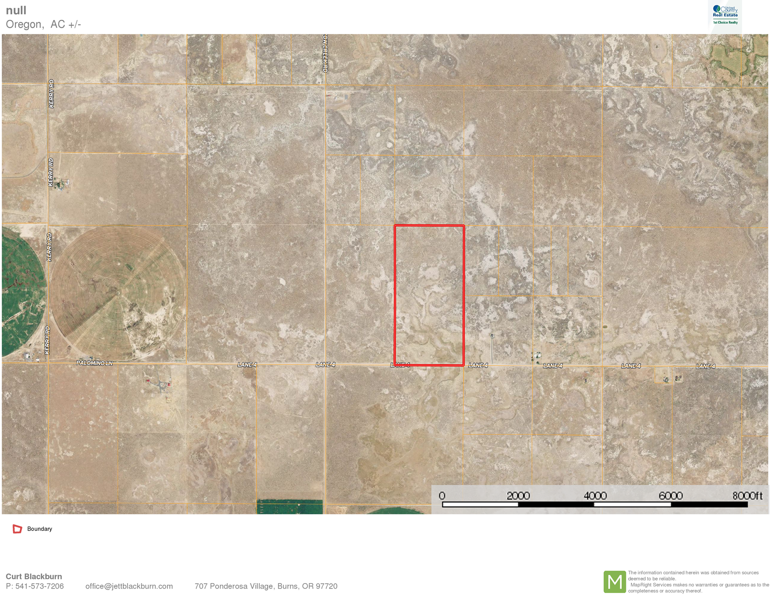 80 ACRES BARE LAND FOR SALE EAST OF BURNS OR - PALOMINO LN