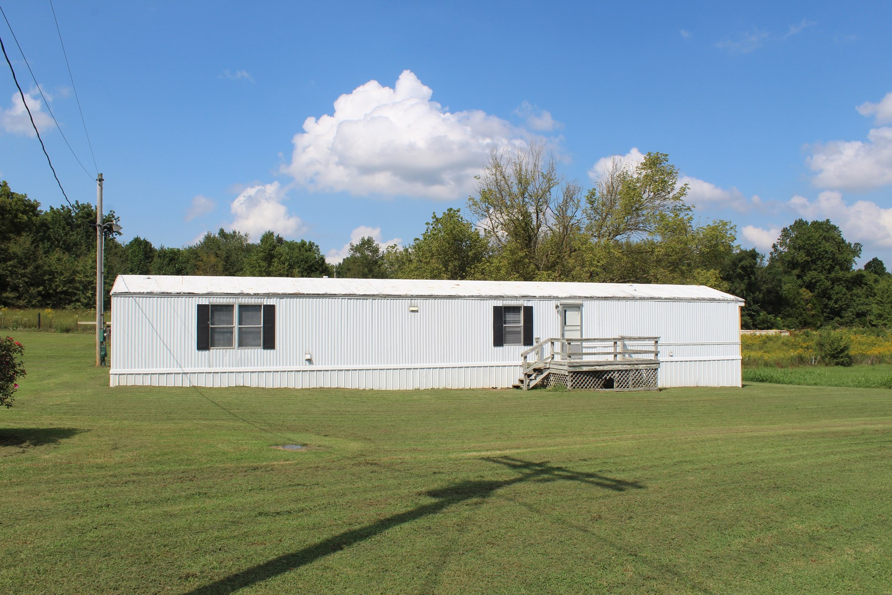 Well-Kept 3 Bed-2 Bath Mobile Home, Det. Garage & 3.99 Acres