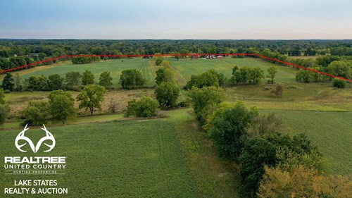80 Acres with Home and Outbuildings in Clinton County, MI
