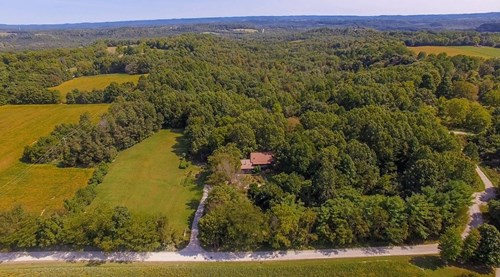 Country Mtn Log Home on 32 secluded ac. in Adams county Ohio