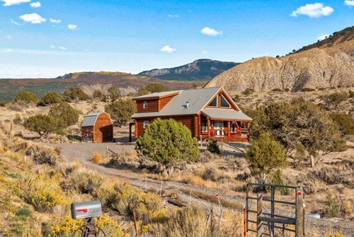 Custom Log Home Located on 4.5 Acres in Montrose, Colorado