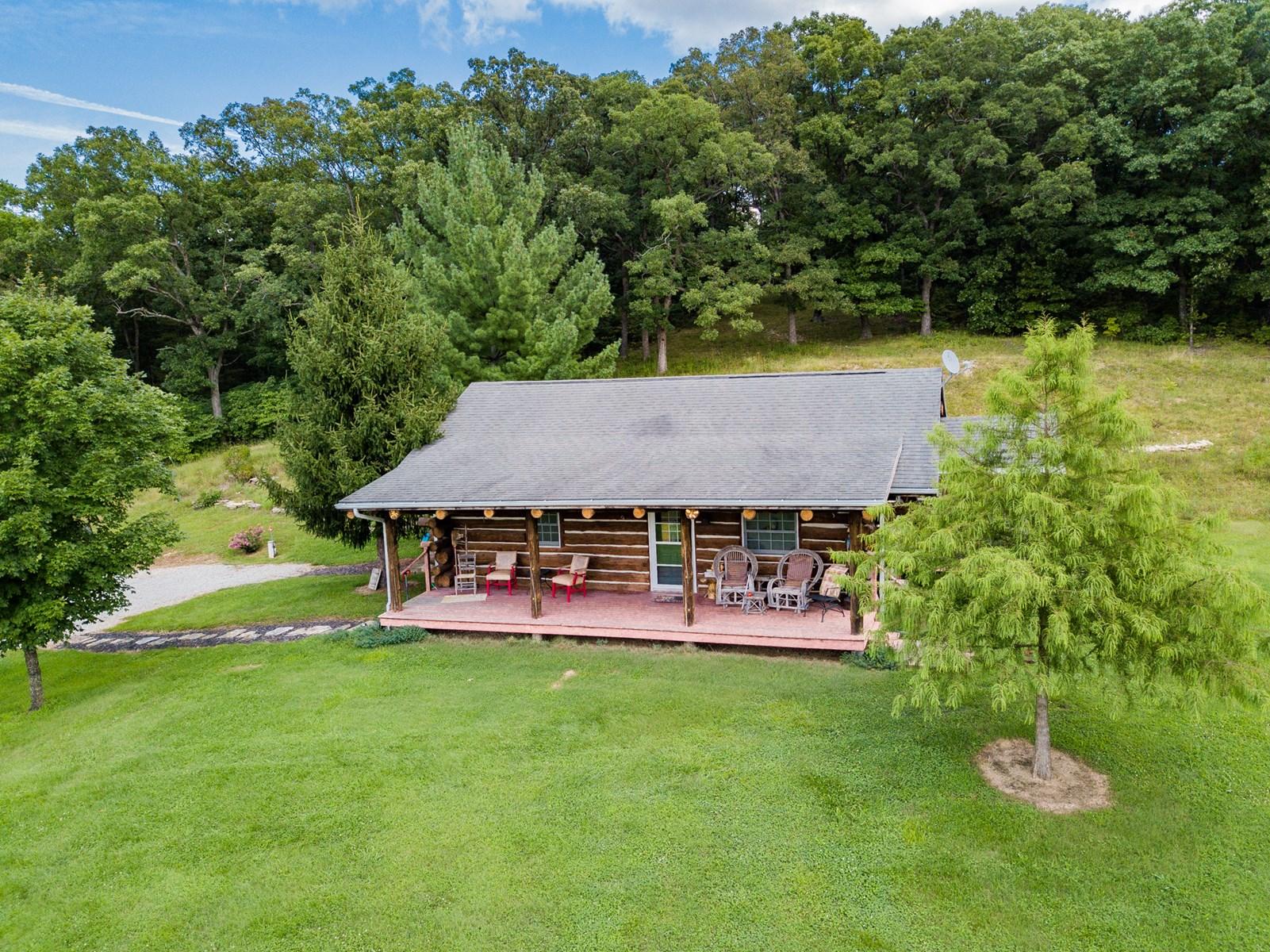 Recreational Land with Beautiful Log Cabin  Centertown, MO