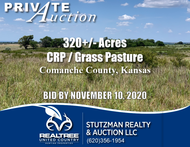 COMANCHE COUNTY, KANSAS ~ 320+/- ACRE ~ PRIVATE AUCTION
